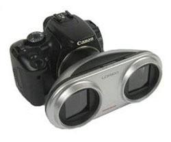 Lensa 3D untuk kamera DSLR Canon tipe apapun.