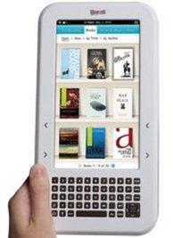 Literati eReader dengan LCD Warna dan Kibor WERTY