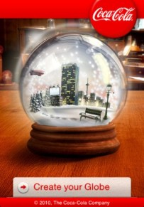 Coca-Cola Christmas Snow Globes