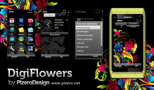 DigiFlowers untuk Ponsel Symbian