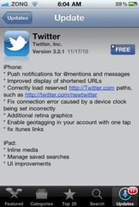 Twitter untuk iOS 4.2