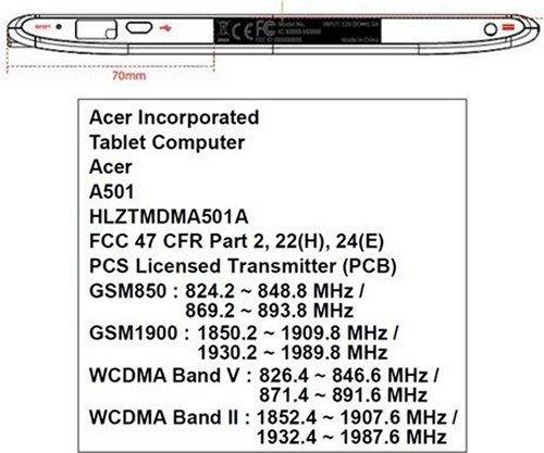 Acer Iconia Tab 510 Spesifikasi